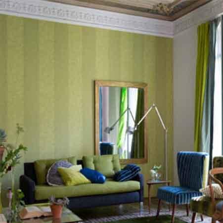 Print en dessin behang kleur op kleur interieur for Interieur kleur