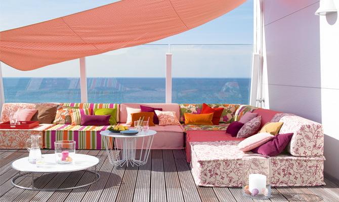 De tuinkamer kleur op kleur interieur for Arredamento outdoor design