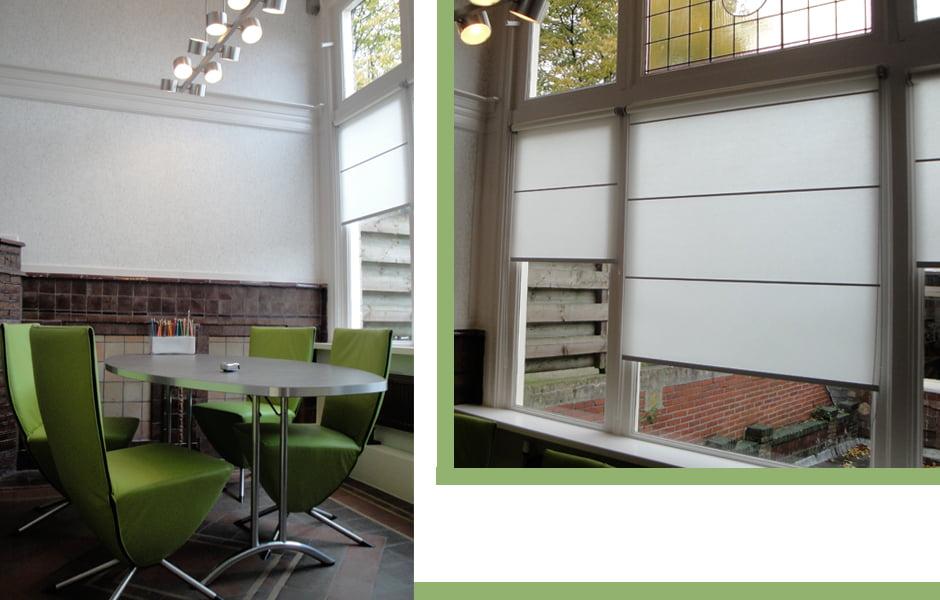 Ontvangstruimte voor een bedrijf kleur op kleur interieur for Interieur bedrijf