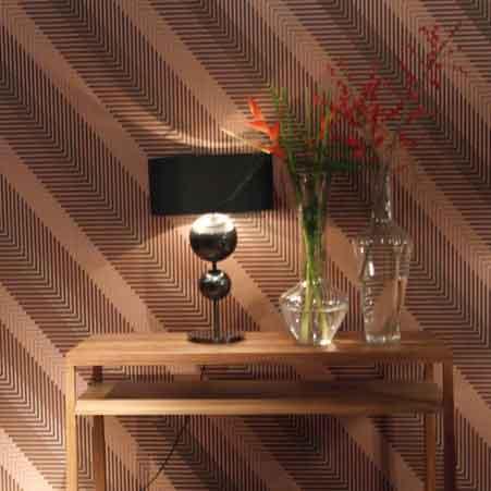 Luxueus behang kleur op kleur interieur - Behang voor trappenhuis ...