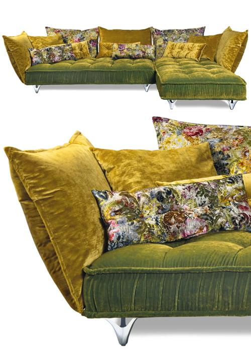 Bretz lounge elementenbank kleurrijk door kleur op kleur interieur