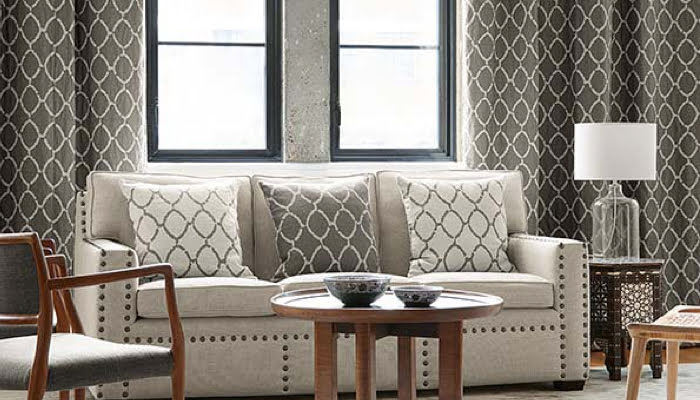 Taupe Kleur Interieur : Pure linnen stoffen gordijnen kleur op kleur interieur