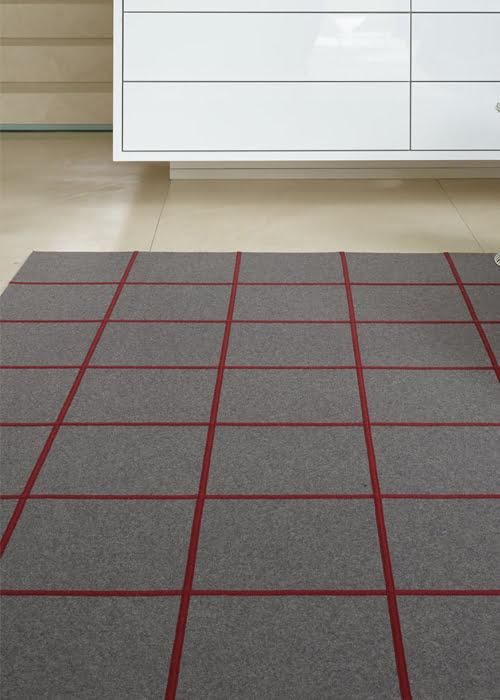 karpet vloerkleed vilt natuurlijke materialen door kleur op kleur interieur