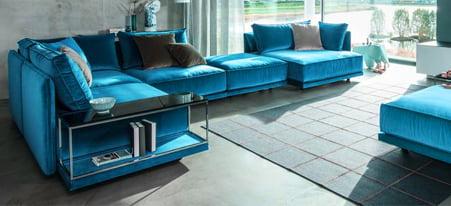 modulaire banken zitelementen door kleur op kleur interieur