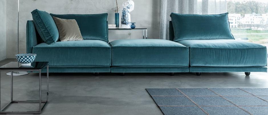 Design Bank Losse Elementen.Cube Lounge Elementenbank Kleur Op Kleur Interieur