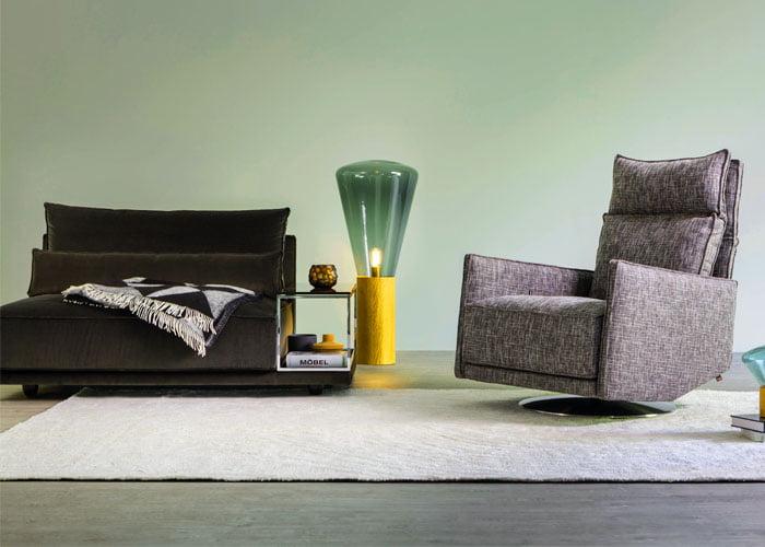 Cube lounge elementenbank kleur op kleur interieur