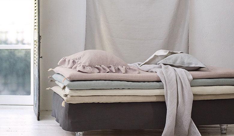 vouw gordijnen stoffige zachte tinten stoere linnen kwaliteit