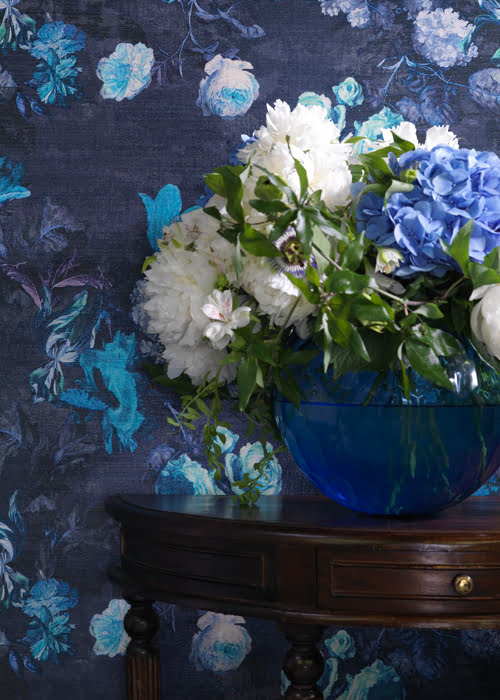 trendy kleur op kleur interieur with blauw interieur
