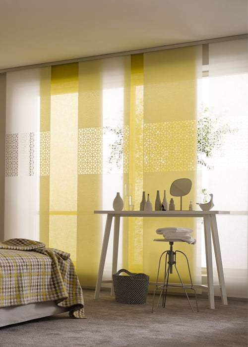 Paneelgordijnen kleur op kleur interieur for Interieur kleur