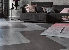 Pvc vloeren hout beton steen motieven kleur op kleur interieur